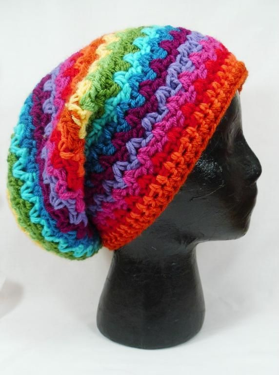 Slouchy Ziggy Crochet beanie