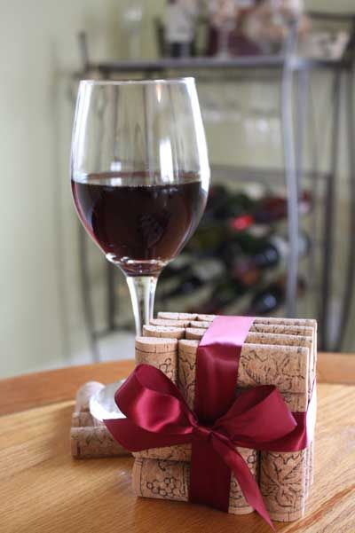 how to cut wine corks in half easily