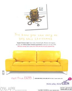 yellow furniture | ... Akira 3 Seater Leather Sofa Advert, Ad - DFS Furniture - Video Clip