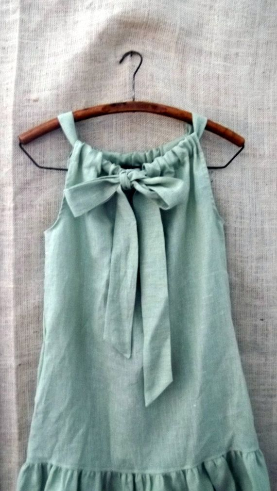 I love it when people turn a simple pillowcase dress into something beautiful! linen