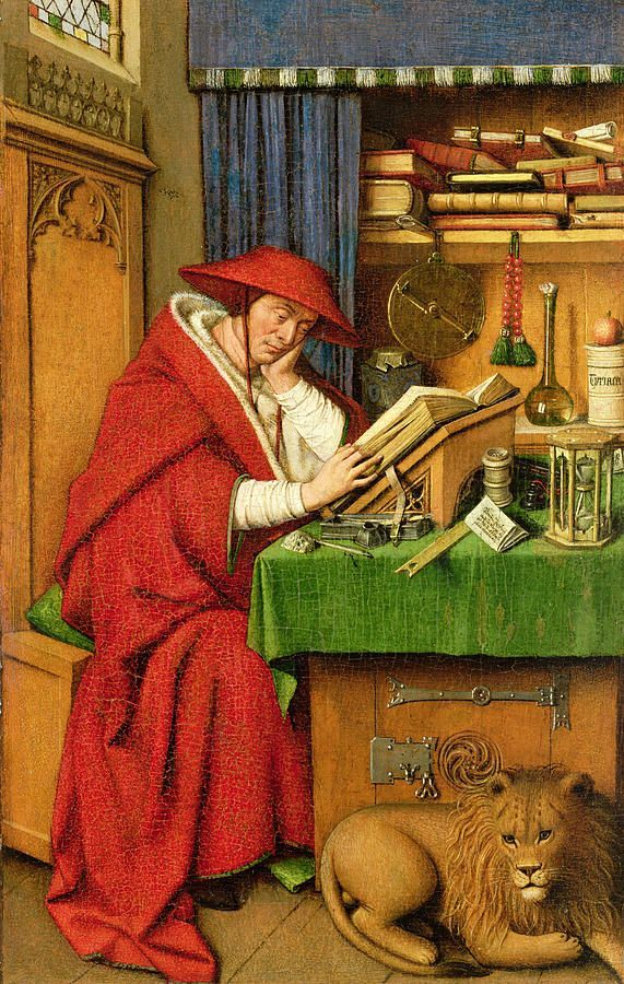 1442 Jan van Eyck - St. Jerome In His Study