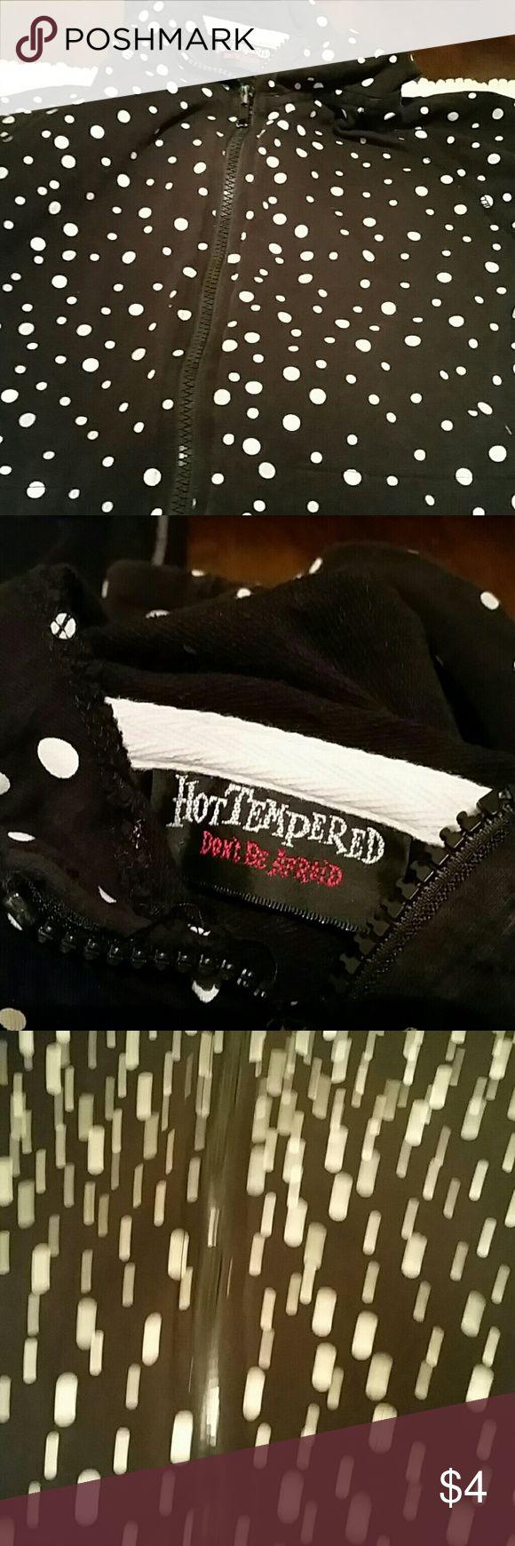 Women's hoodie Gently used polka dot hoodie no stains holes long sleeve Hot Tempered Tops Sweatshirts & Hoodies