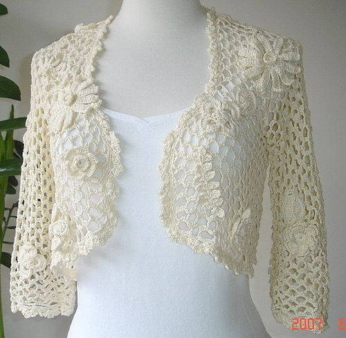 lovely crochet shrug