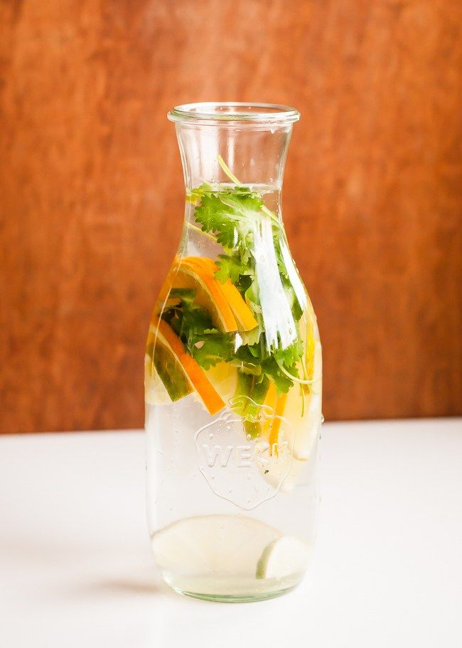 Cilantro Citrus Infused Water | HelloGlow.co