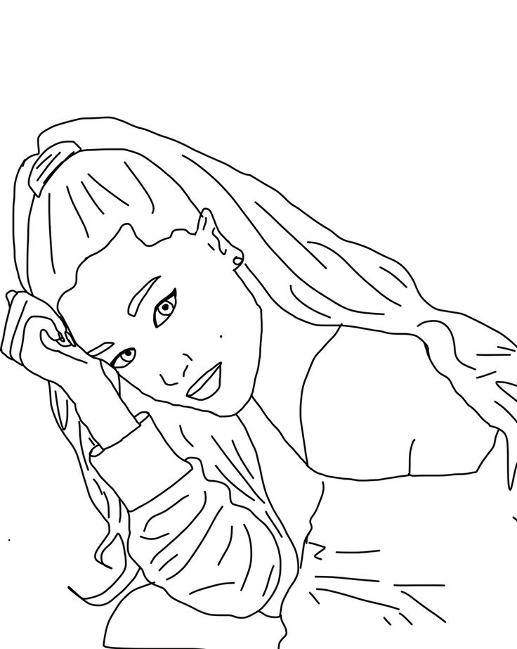 Ariana Grande Cartoon Coloring Pages