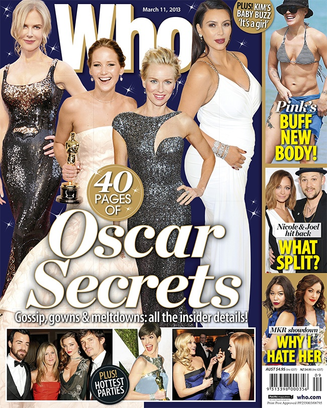 Secrets From The Oscars! PLUS: Pink's buff new beach body, Nicole Richie & Joel Madden: Our Happy Marriage - and more My Kitchen Rules drama!
