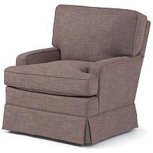 Best Chairs Charlotte Upholstered Swivel Glider  Tan