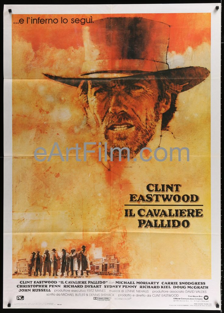 Pale Rider-Clint Eastwood-Carrie Snodgress-1985-39x55-Italian 1Panel