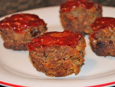 Skinny Meatloaf Muffins with Barbecue Sauce POINTS PLUS 4 - weight watchers recipes