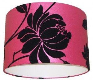 Flock Black/Hot Pink Lampshade