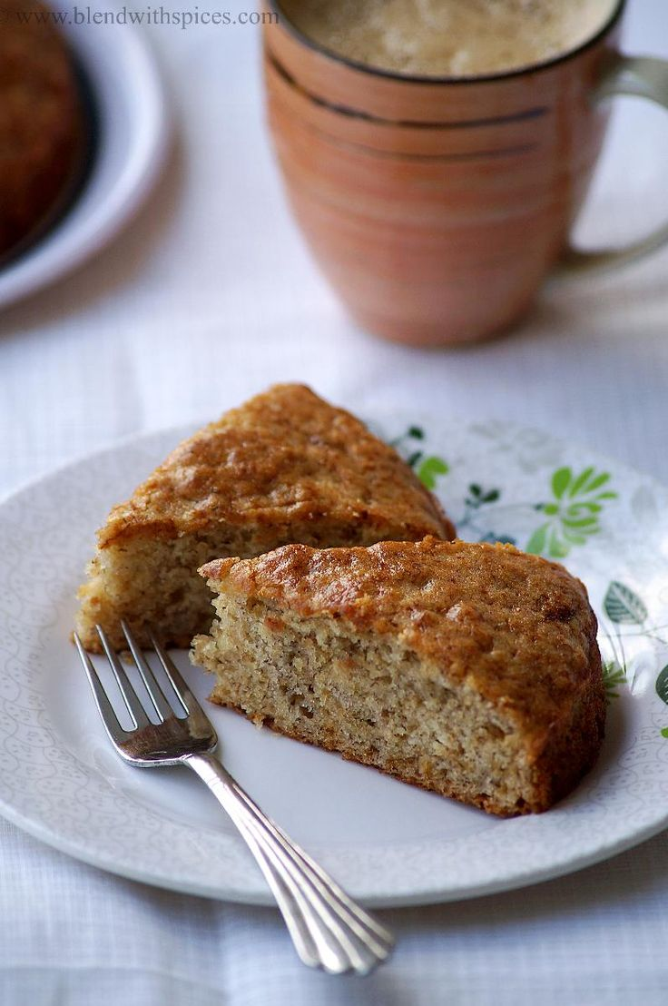 Eggless Banana Cake Recipe - Vegan Banana Cake Recipe - Step by Step Pictures   Indian Cuisine