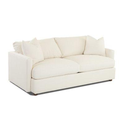 Wayfair Custom Upholstery Madison Sofa Upholstery: Sunbrella® Meridian  Wisteria