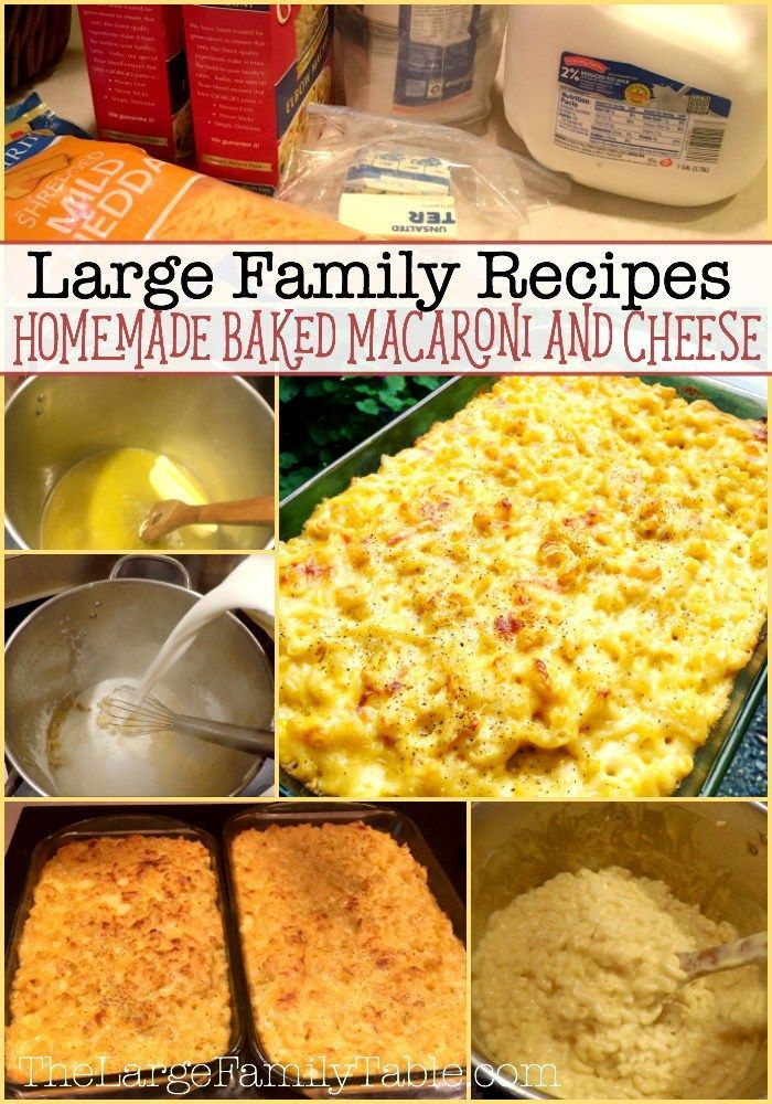 Homemade Baked Macaroni and Cheese | Large Family Recipes
