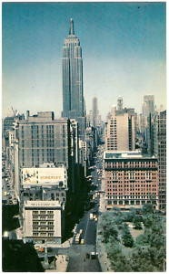 1950's Photo PC Postcard NYC New York EMPIRE STATE BLDG