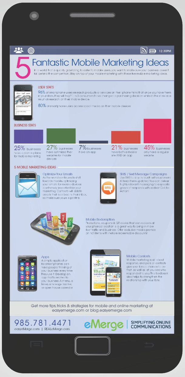 5 Fantastic Mobile Marketing Ideas [INFOGRAPHIC] #mobile #marketing