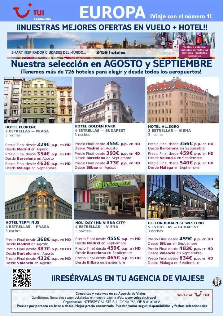 vuelo + hotel en Praga, Budapest y Viena salida Agosto y Septiembre. Precio final desde 329€ - http://zocotours.com/vuelo-hotel-en-praga-budapest-y-viena-salida-agosto-y-septiembre-precio-final-desde-329e/