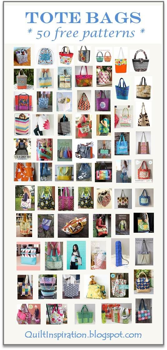 Quilt Inspiration: Free pattern day: Tote bags !  Updated June 2016 with more free patterns