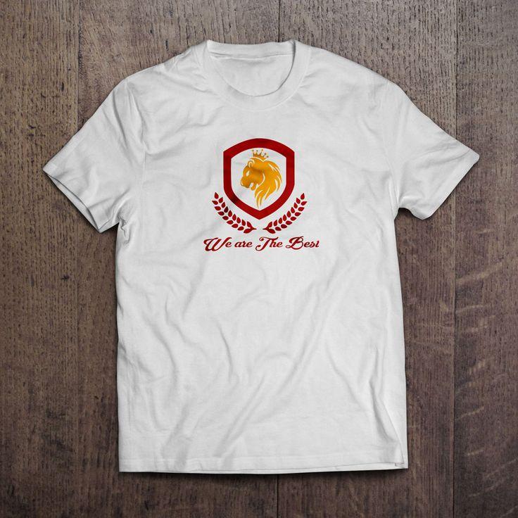 Beyaz Kumaş üzerine dijital baskı we are the best t-shirt 29,99TL