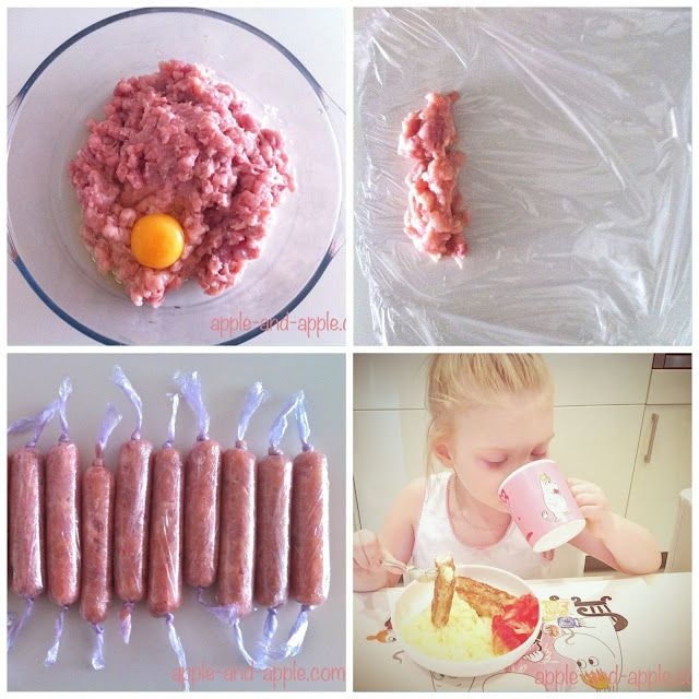 РЕЦЕПТ: Детские куриные сосиски     Куриное филе -4 штуки     1 яйцо     100 мл…