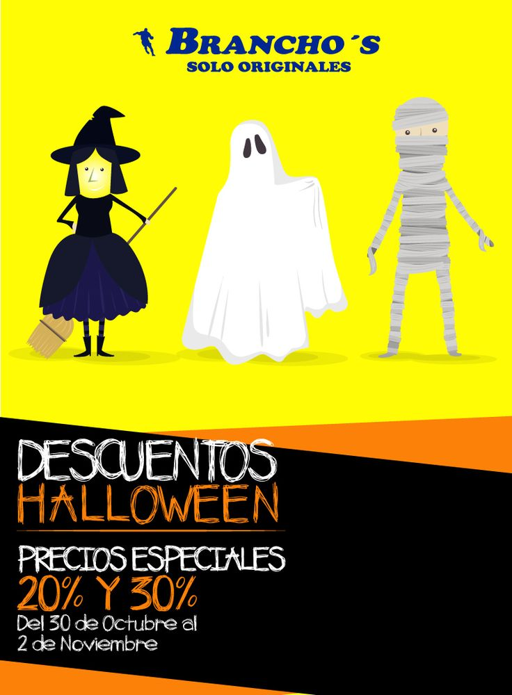 Ven a disfrutar de las Promociones de Halloween en TODAS NUESTRAS TIENDAS a partir del 30 de Octubre al 2 de Noviembre donde encontrarás descuentos especiales en referencias seleccionadas.
