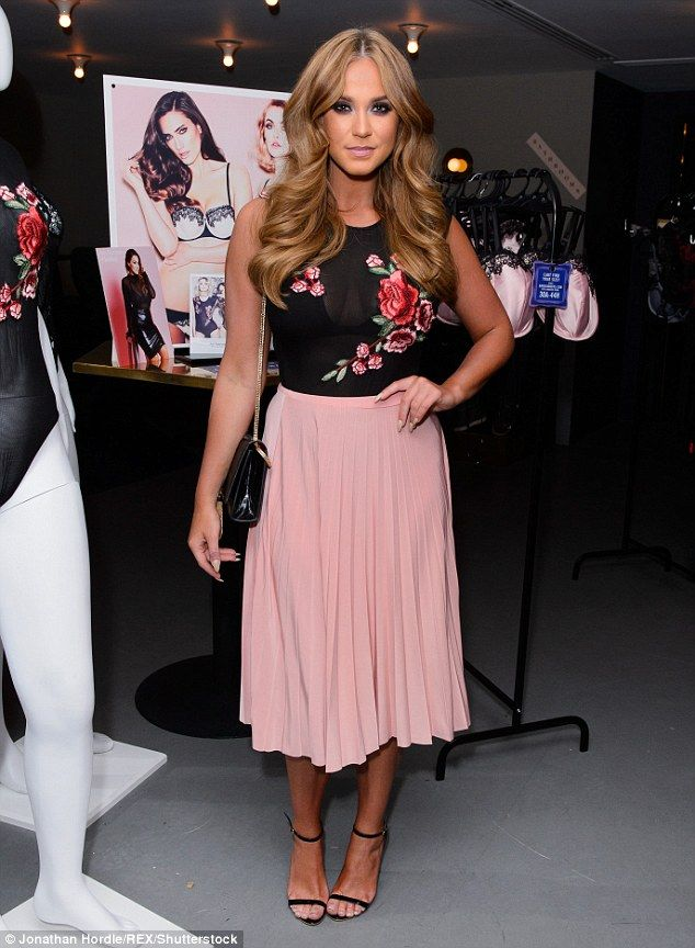 Elegant: Vicky Pattison went for a feminine look as she attended the launch of Ann Summers' A/W16 collection