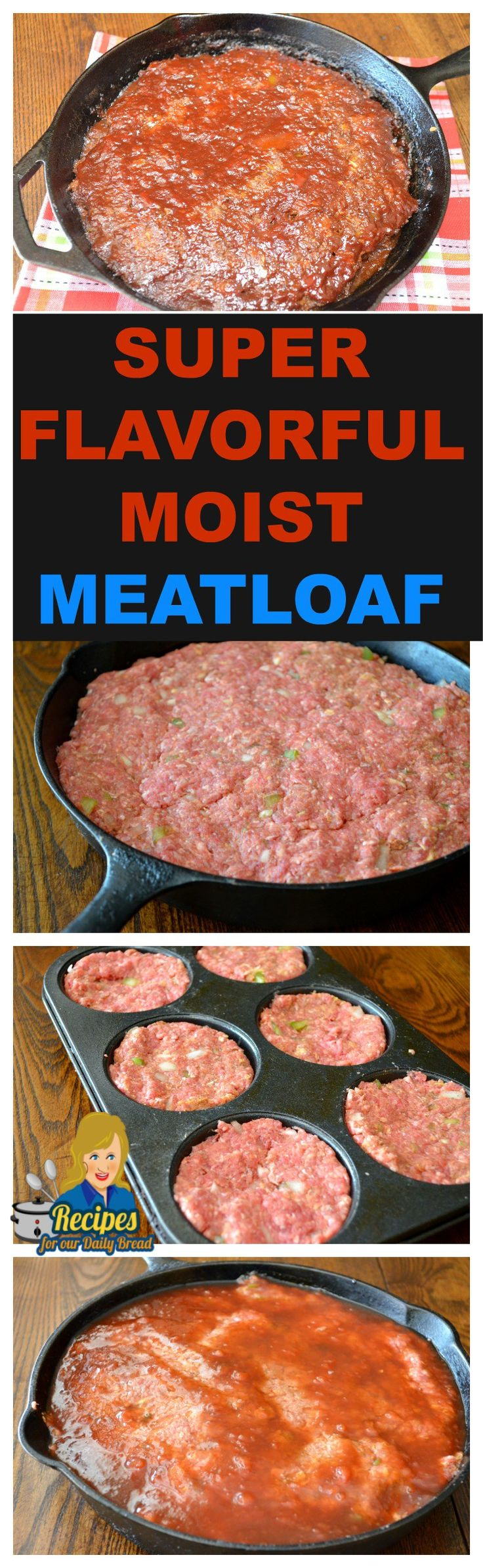 HOW TO MAKE SUPER FLAVORFUL MOIST MEATLOAF EVERY TIME  See Full Recipe Here: http://recipesforourdailybread.com/super-moist-meatloaf-recipe/