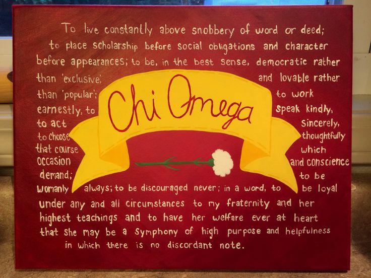 Chi Omega Symphony on canvas