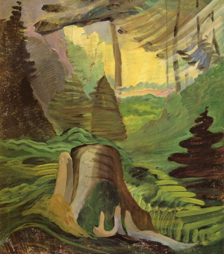 Untitled [aka Light in the Jungle], 1937-1940. Emily Carr