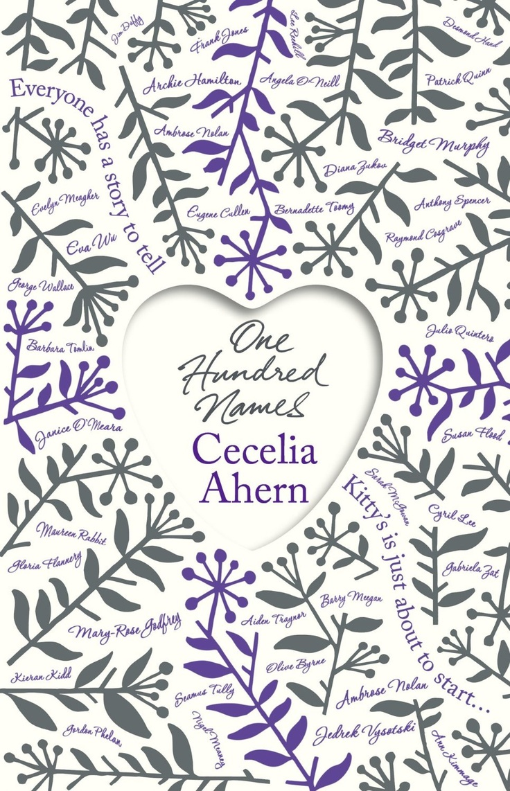 One Hundred Names by Cecilia Ahern (2** out of 5) Finished July 21/13