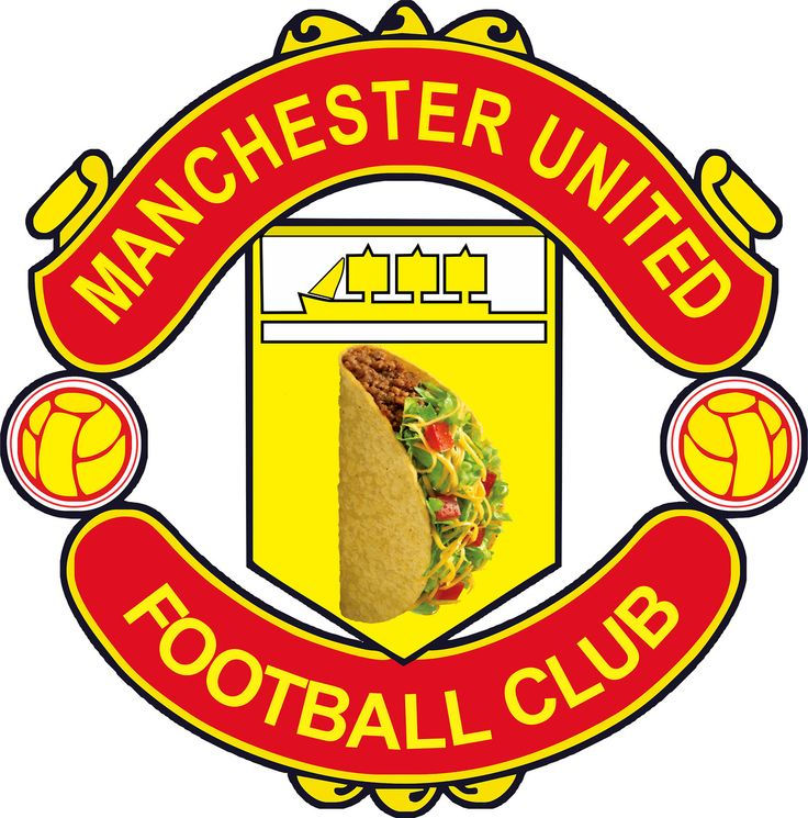 Manchester United Football Taco. #manu #manchester #united #manchesterunited #reddevils #manunited #mufc #football #soccer #taco #tacos #mexican #mexico #food