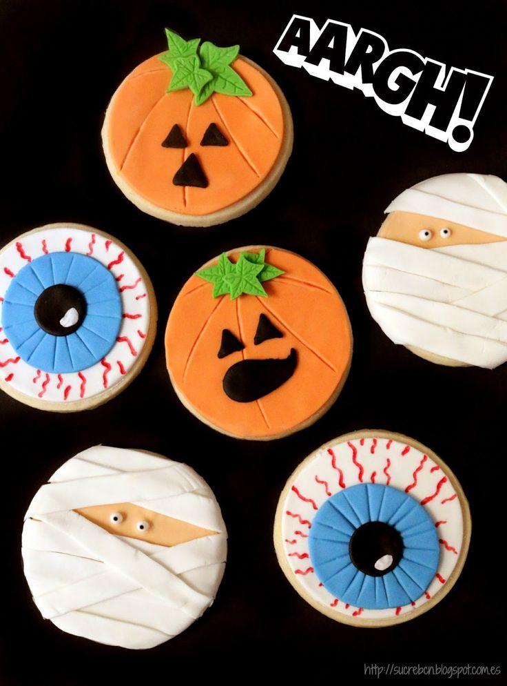 Halloween Decoradas, Galletas Decoradas Para Halloween, Galletas De Halloween Ideas, Galletas Terrorificas, Galletas Hallowen Fondant, Postres, Recetas,