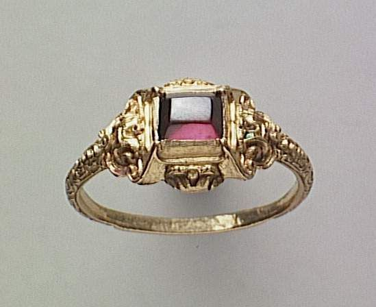 Gold ring with a ruby, France, 16th century