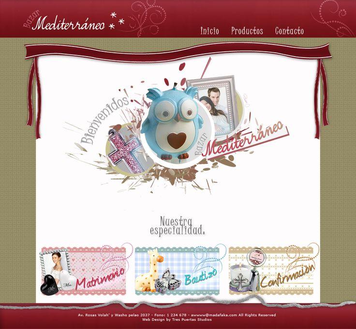 Home de página web Bazar Mediterráneo