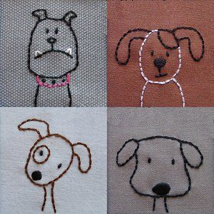 Image of Dogs embroidery pattern PDF