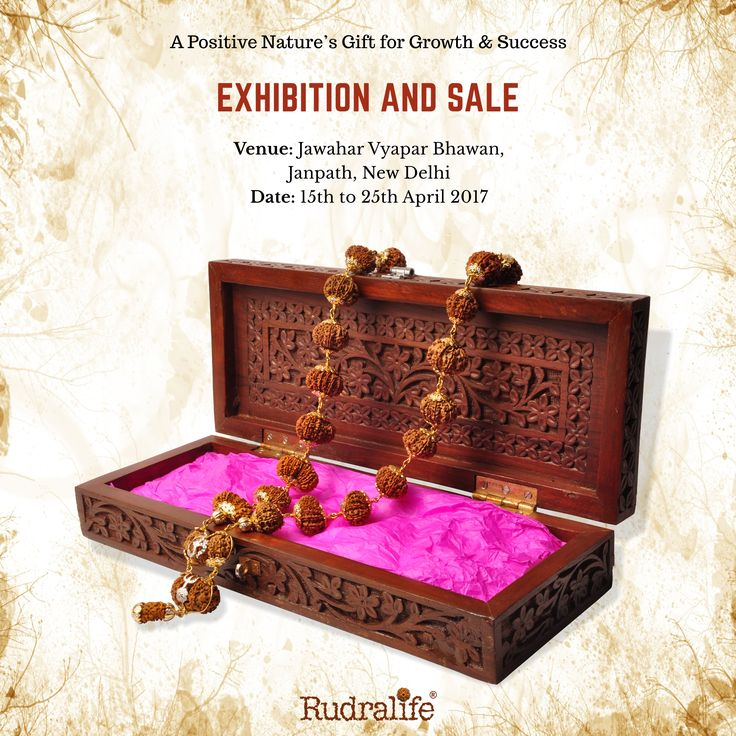 Rudralife presents Rudraksha Exhibition cum Sale at New Delhi started from today... To more about event please visit : https://events.rudralife.com