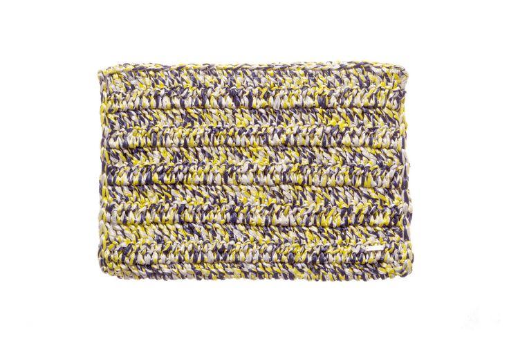 hand crocheted raffia clutch, denovembre, crochet, pochette raffia