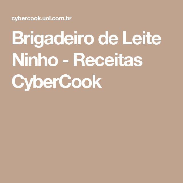 Brigadeiro de Leite Ninho - Receitas CyberCook