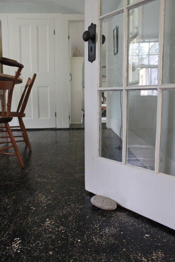 cape cod splatter painted floors