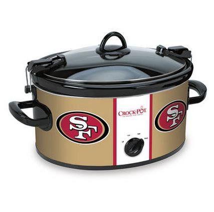 Official NFL Crock-pot Cook & Carry 6 Quart Slow Cooker - San Francisco 49ers