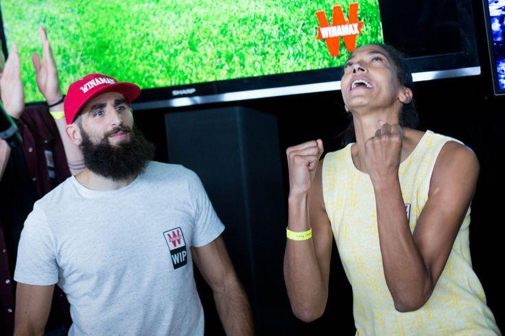 Matthieu Péché et Emmeline Ndongue. #WiPT #Paris #Poker