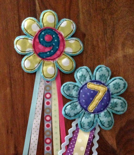 Birthday Rosette by KarenEWelfare on Etsy, £7.00