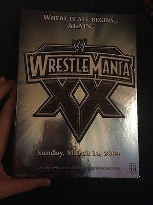 WWE - Wrestlemania XX (DVD, 2005, 3-Disc Set), LIKE NEW