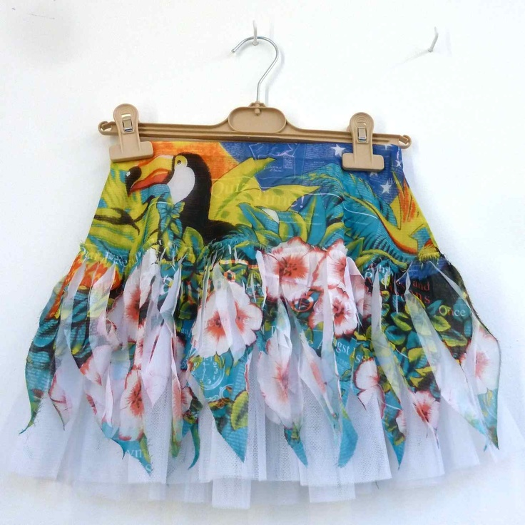 Sweet tropical print girls skirt from John Galliano kids for summer 2013.  Girlie ClothesTropical FashionBaby ...