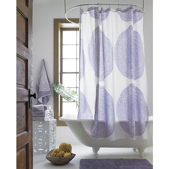 Marimekko Pippurikera Wisteria Shower Curtain in Shower Curtains, Rings | Crate and Barrel