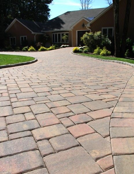 Concrete Cobble Street : Colonial brick pavers and stamped concrete on pinterest