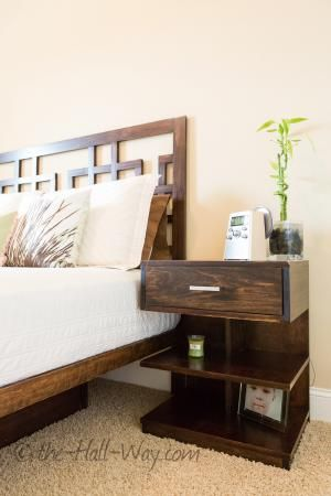 White Nightstand Without Drawers