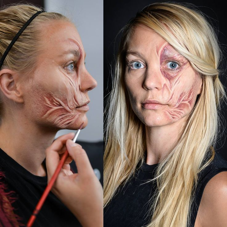 Student work during Special FX & creating silicone