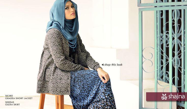 Shajna Lookbook: Pattern Play www.shajna.com #hijab #modesty #muslimah #skirt