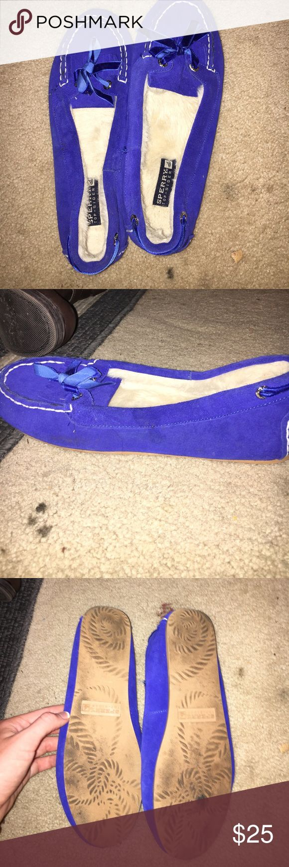 Sperry slippers! Only been worn around house! A little dirty on bottom but not really! Top and inside of shoe look new! Only actually worn a few times! Great condition! Sperry Top-Sider Shoes Moccasins