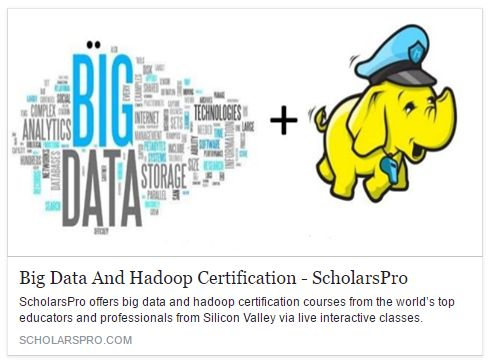 If you are looking for Hadoop, Hive Or Pig certification then visit http://www.scholarspro.com/big-data-hadoop-certification/.What Will You Get From Scholars Pro? Here in Scholars Pro, Instructor will explain and illustrate the capabilities of Hadoop (including MapReduce, Yarn, and HDS), Hive, HBase and Spark for processing a large volume of data workloads with various industry use cases. Who can attend this course In Scholars Pro? This course is designed for individuals seeking to gain…